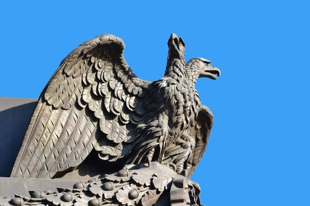 doubleheaded: Sculpture of double-headed eagle in St.Petersburg, Russia