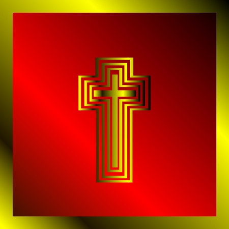 Background with christian cross  Vector