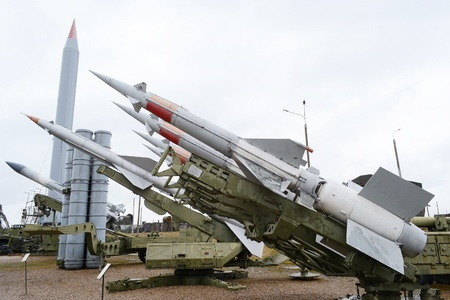 trajectory: Collection of old russian anti aircraft missiles.