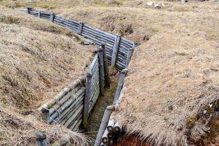 Reconstruction of the trenches of World War II