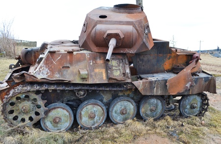 The photo of rusty german old military tank Stock Photo - 10650304