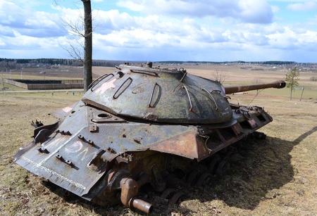 The photo of rusty old soviet military tank Stock Photo - 10650308