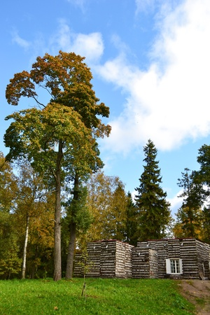 View of the Birch Pavilion in Gatchina, Russia