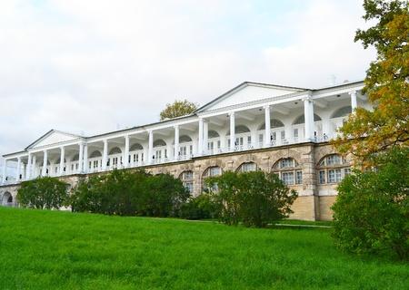 pushkin: View of palace in Tsarskoe Selo, St Petersburg, Russia.