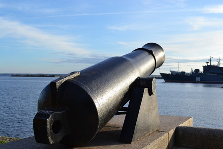 Old cannon in Kronstadt, St-Petersburg, Russia . photo
