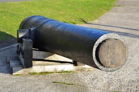 Old cannon in Kronstadt, St-Petersburg, Russia . Stock Photo - 10775215