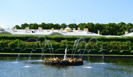 View of Upper Park in Petergof, St.Petersburg, Russia photo