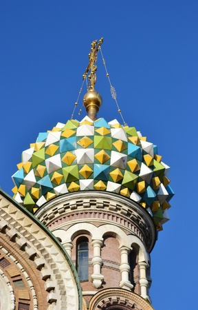 Dome of Church of the Savior on Blood, Saint-Petersburg, Russia photo