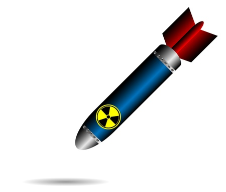 Cartoon raket bom, vallen op een witte achtergrond Stockfoto - 10991133