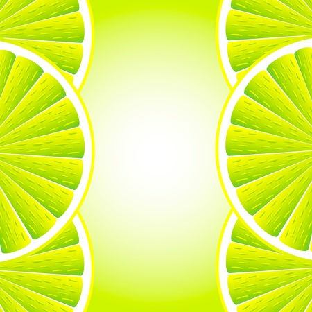 Citrus background with slices of lemon. Vector stylized background. Vector