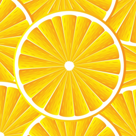 Citrus background with slices of orange. Vector stylized background.