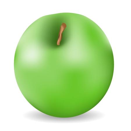 green apple isolated: Green apple isolated on white background