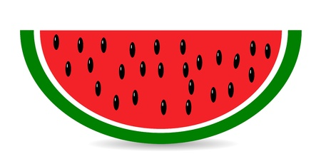 Slice of watermelon isolated on white background Stock Vector - 11164695