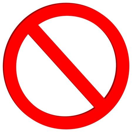 förbjuda: Ej tillåtet skylt på vit bakgrund - vektor