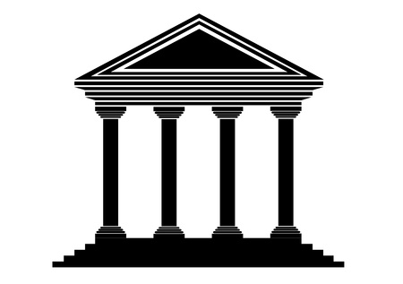 institution: Bank icon on white background - vector