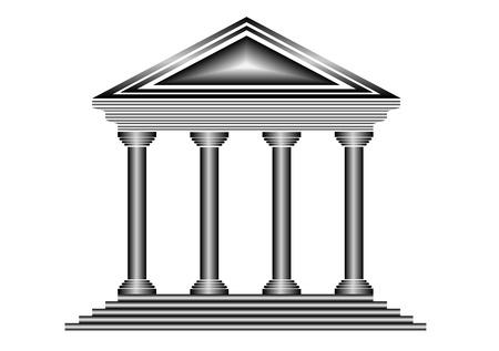 Metal bank pictogram op witte achtergrond - vector Vector Illustratie
