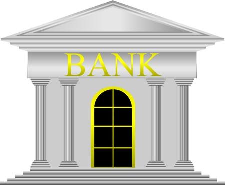 Metal bank pictogram op witte achtergrond - vector Stockfoto - 11236989