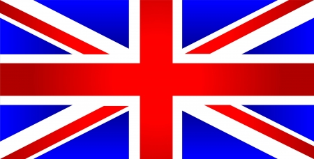 inglese flag: Regno Unito di Gran Bretagna bandiera - vettore Vettoriali