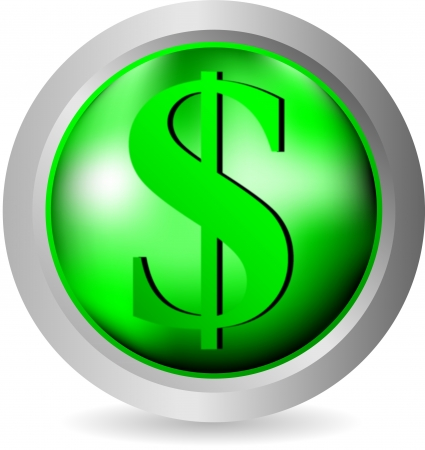 Dollar icon on white background - vector