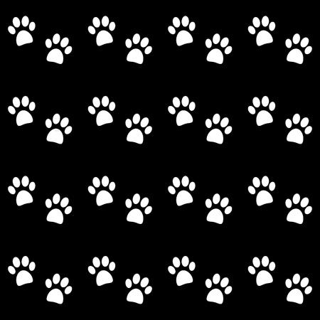 icono imprimir: De fondo con huellas de patas blancas - vector