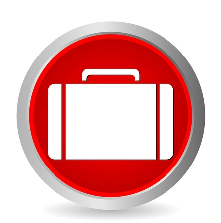 Vector rounded web button with bag on white background Vector