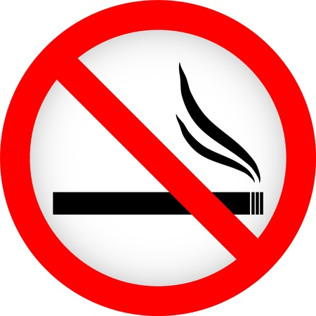 Niet roken teken op een witte achtergrond. Vector illustratie.