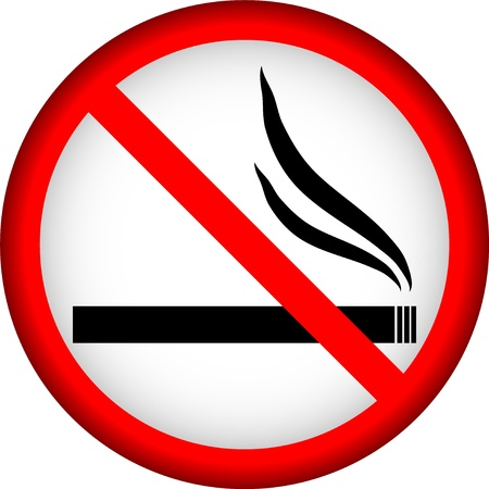 No smoking sign on a white background. Vector illustration. Stock Vector - 11237058