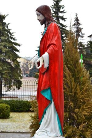 brest: Statue of Jesus Christ in Brest, Belarus