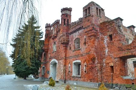 brest: Kholmskiye gate in Brest Fortress, Belarus