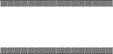Achtergrond met griekse ornament - illustratie Stock Illustratie
