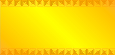 neoclassical: Gold background with greek ornament - illustration