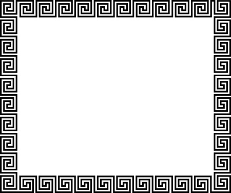 meander: Background with greek ornament - illustration