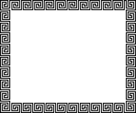 antigua grecia: Fondo con el ornamento griego - ilustración