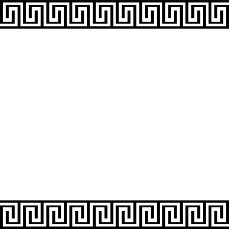 neoclassical: Background with greek ornament - illustration
