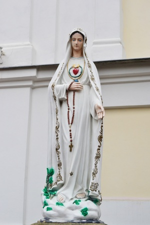 Statue of Virgin Mary in Brest, Belarus Stock Photo - 11347403