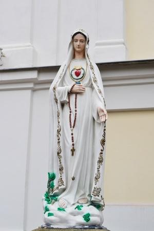 Statue of Virgin Mary in Brest, Belarus photo