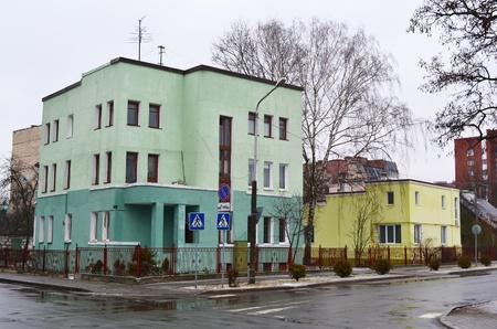 brest: View of street in Brest, Belarus Editorial