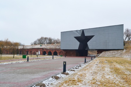 brest: The entrance to the Brest Fortress, Belarus Editorial