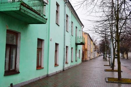 brest: Street in the old part of Brest, Belarus Editorial
