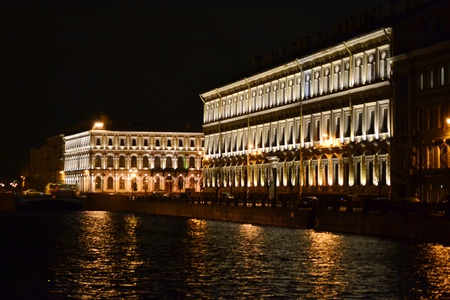 View of night St. Petersburg, Russia. Moika river Stock Photo - 11342160