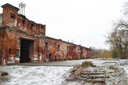 Wall of the Brest Fortress in Brest, Belarus