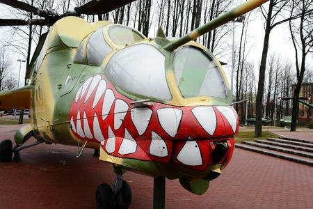 Russian helicopter in museum, Vitebsk, Belarus