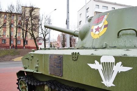 Vitebsk, Belarus -  April 9, 2011: soviet armored troop-carrier in museum Stock Photo - 11379373