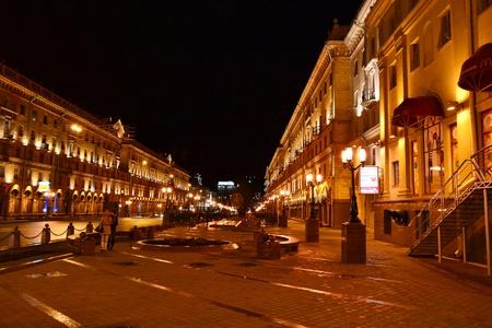 Minsk, Belarus - April 10, 2011 - street in the central part of Minsk, Belarus