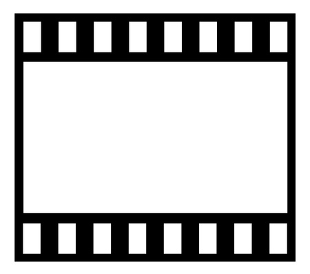 Film strip isolated on white background