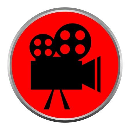 icon (button). The Videocamera silhouette. Stock Vector - 11471470