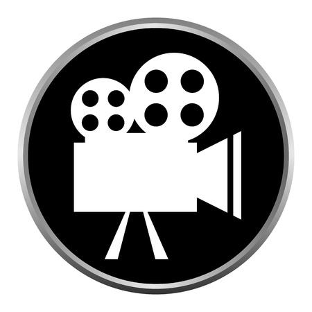 movie camera:  icon (button). The Videocamera silhouette.