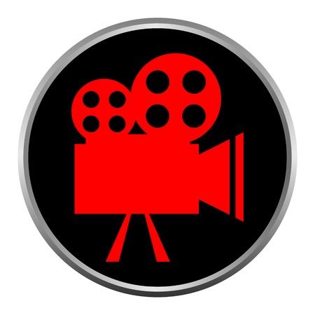 icon (button). The Videocamera silhouette. Stock Vector - 11471472