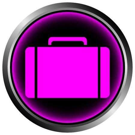 Button with a portfolio on white background Stock Vector - 11471540