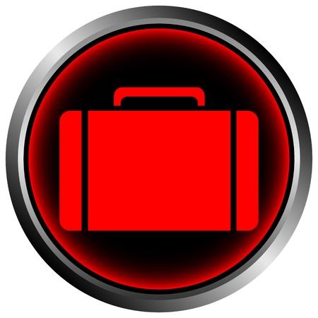 Button with a portfolio on white background Stock Vector - 11471532